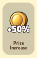 Price Increase +50%