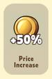 Price Increase +50%