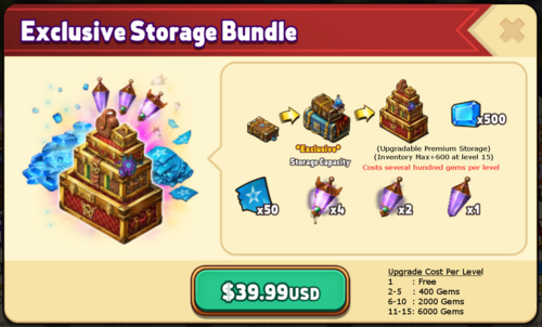 Exclusive Storage Bundle with notes