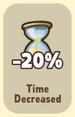 Time Decreased -20%