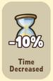 Time Decreased -10%