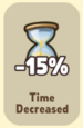 Time Decreased -15%