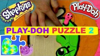 SHOPKINS APPLE BLOSSOM PLAY-DOH PUZZLE FOR KIDS! Rompecabezas de Shopkins.