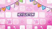 Hey! Listen! title card