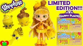Shopkins Gold Jessicake Limited Edition and Shopkins Happy Places
