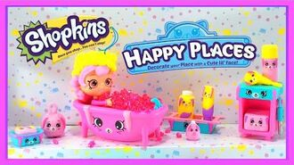Shopkins Happy Places Welcome Pack - Bathing Bunny with Bubbleisha Shoppie Doll and Petkins Figurine