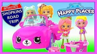 Shopkins Happy Places Bearry Fun Convertible Playset ROAD TRIP