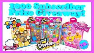 Shopkins Season 6 Prize Giveaway Disney Tsum Tsum & Disney Princess Glitzi Globes