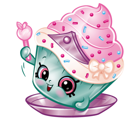 Cupcake Princess Is An Ultra Rare Bakery Shopkin From The Recipe In Season Six She A With Teal Wrapper Pink And White