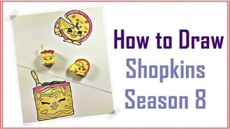 How To Draw Shopkins Season 8 - Peppa Ronnie Pizza, Luigi Lasagna