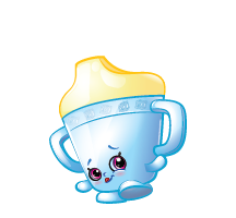 Shopkins Season 2 Special Edition Blue Sippy Sips Fluffy Baby