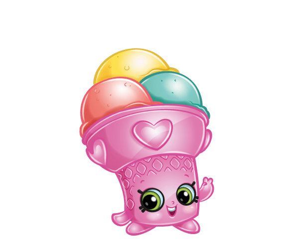 Shopkins Cake With Ice Cream