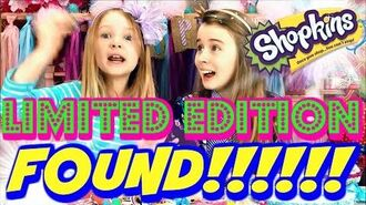 SHOPKINS LIMITED EDITION FIND!!! KIDS REACT!! FOOD FAIR BLING D'LISH DONUT FOUND!!