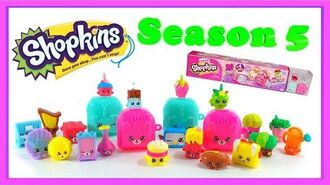Shopkins Season 5 Mega Pack of 20, plus 4 collectable Petkins Backpacks