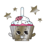 Metallic Cupcake Chic Charm art