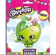 Collectable apple eraser