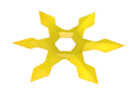 Golden Throwing Stars