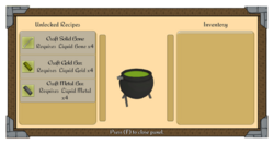 Cauldron menu