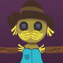 Scarecrow badge