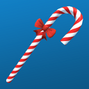 Candy cane badge