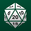 20 sided dice badge