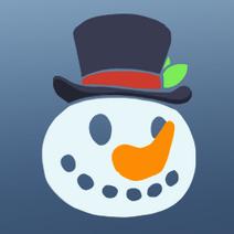 Snowman badge
