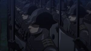 Standing Army in close up