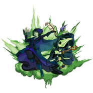 Plague Knight and Mona Art