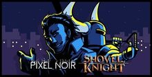 Shovel knight pixel noir-0