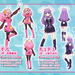 Plasmagica character designs from Otomedia Magazine