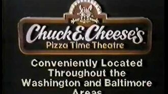 Chuck E Cheese Pizza Tv commercial 1982