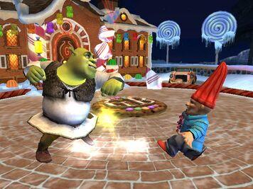 Shrek Knocks Out Garden Gnome