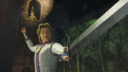 Prince charming sword shrek 3