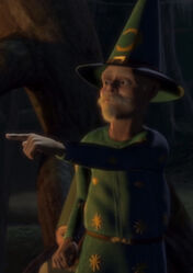 A stereotypical wizard in Shrek 1