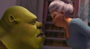 Shrek vs. the fairy godmother shrek 2