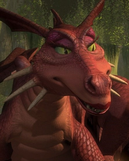 Dragon (shrek) closeup