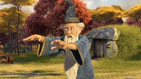 Merlin at his house