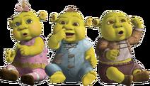Shrek Baby Ogres Triplets