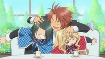 Kukai greets Rima and Kairi, the new Jack's and Queen's chair - Ep 29