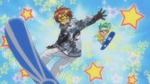 Kukai and Daichi perform Character Change while snowboarding - Ep 11