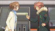 Kukai gives Sion a clover as a present - Ep 20
