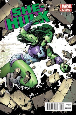 File:She-Hulk Vol 3 1 Stegman Variant.jpg