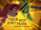 Those Who Can't Teach