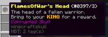 Corrupted skull