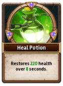 Card HealingPotion
