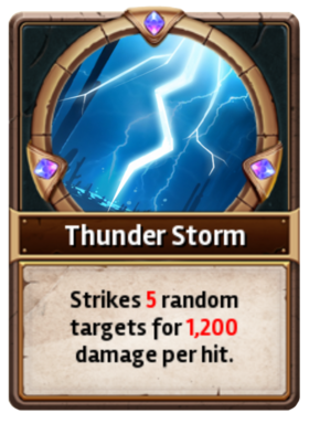 Card Thunderstorm