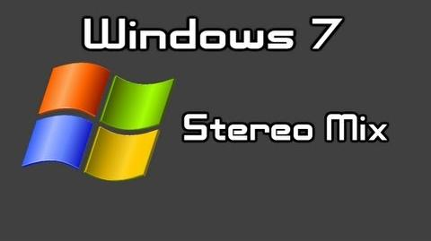 How to Enable Stereo Mix in Windows 7