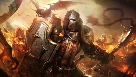 1920x1080 px Crusaders Diablo 3 Reaper Of Souls dragon fantasy Art Knights Shields-607473.jpg!d