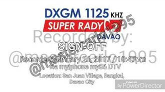 DXGM SUPER RADYO DAVAO SIGN OFF (2017)