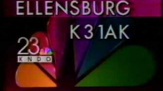 KNDO (NBC) Channel 23 Yakima sign-off (June 1993)